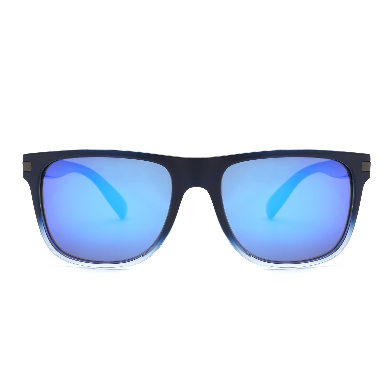 9839b452f Compre Óculos De Sol De Revestimento Quadrados De Borracha Do Vintage  Homens Azul Espelhado Óculos De Sol De Armação De Óculos De Lente De  Zlgood, ...
