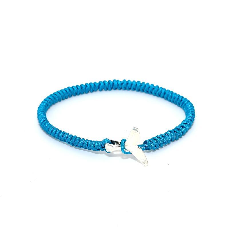 design de qualité 79134 13b38 2018 mode femme bracelets baleine queue bracelet pour les hommes chanceux  ligne rouge macrame baleine queue tressé bracelet bijoux