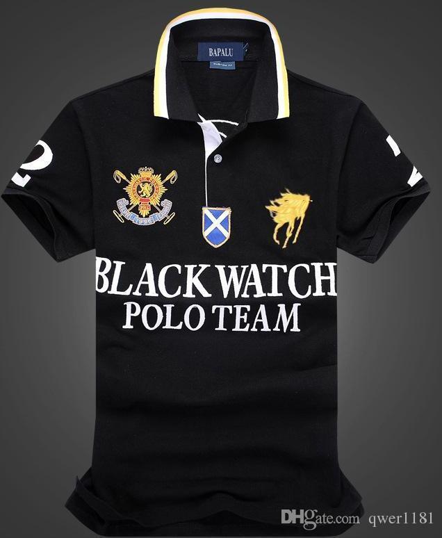 8a491e8be Discount Polo Shirt 100% Cotton Short Sleeve Men Polos Sport BLACK ...