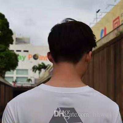 Camisetas reflectantes para hombres Blanco Negro Camiseta de Skate Fresco Streetwear Calidad superior reflectante de luz Camisetas de manga corta Tops