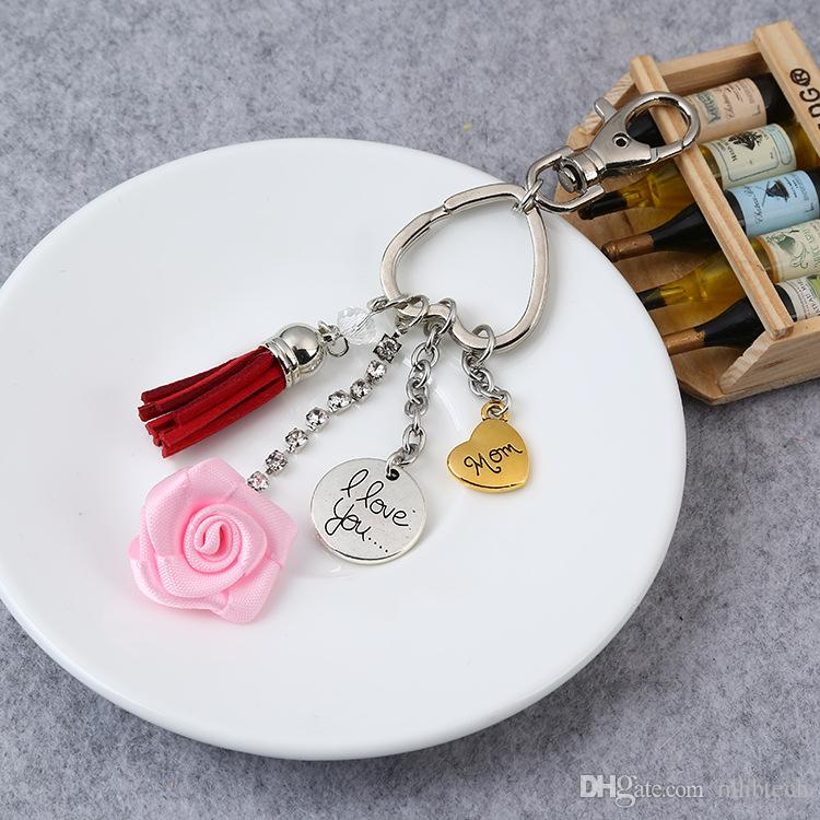 2019 New HOT Selling Key Chains Wholesale Custom 3D Cute Cartoon Mother s  Day Logo Key Tag Soft PVC Rubber