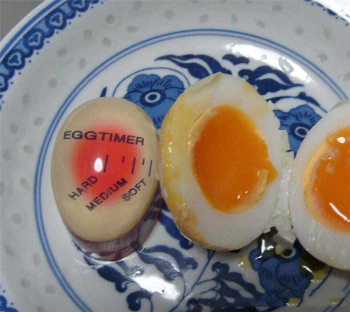 Egg Perfect Color Changing Timer Yummy Soft Hard Boiled Eggs Cooking Kitchen Eco-Friendly Resin Eggs Timer Red c416