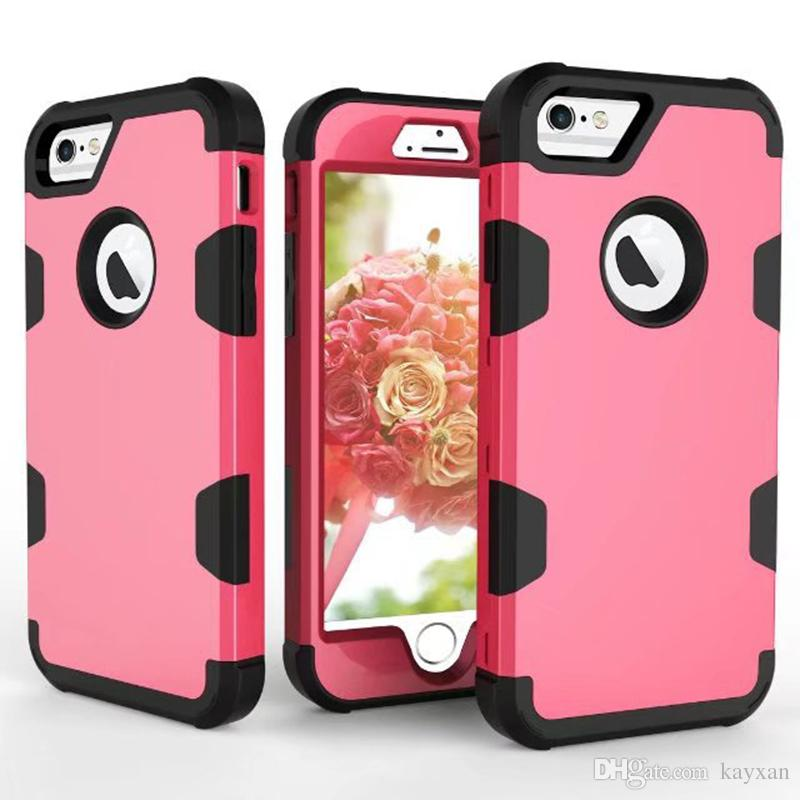 For iphone shatter-resistant mobile phone case for Apple iPhone 6s 3 in 1 hit color 360 degree all-inclusive protective smart phone covers