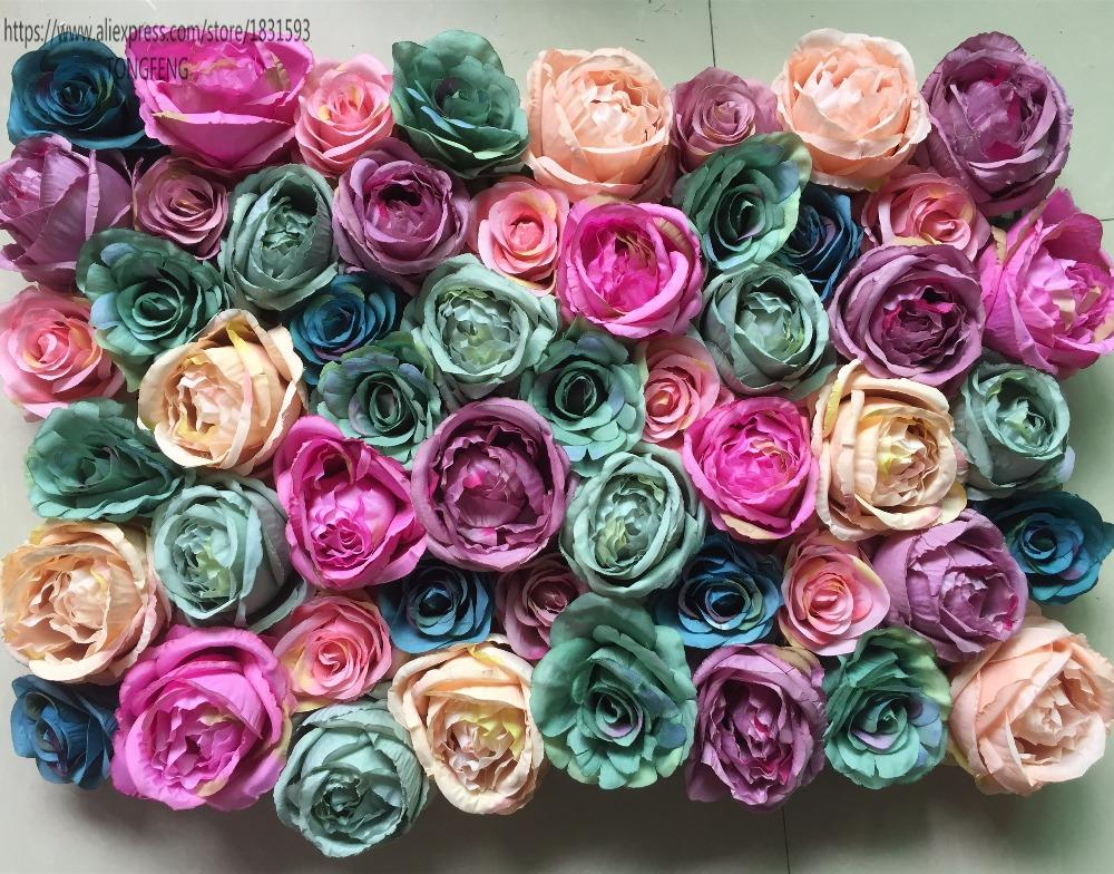 10pcs/lot Artificial silk rose peony flower wall wedding backdrop decoration floral arrangements for weddings TONGFENG