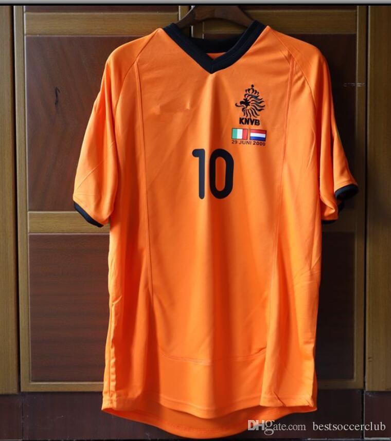 a10c3b22c02 2019 94 96 00 Retro Soccer Jersey Netherlands Bergkamp 1994 1996 2000 Home  Away White Football Shirts Voetbal Holland Seedorf Orange From  Bestsoccerclub