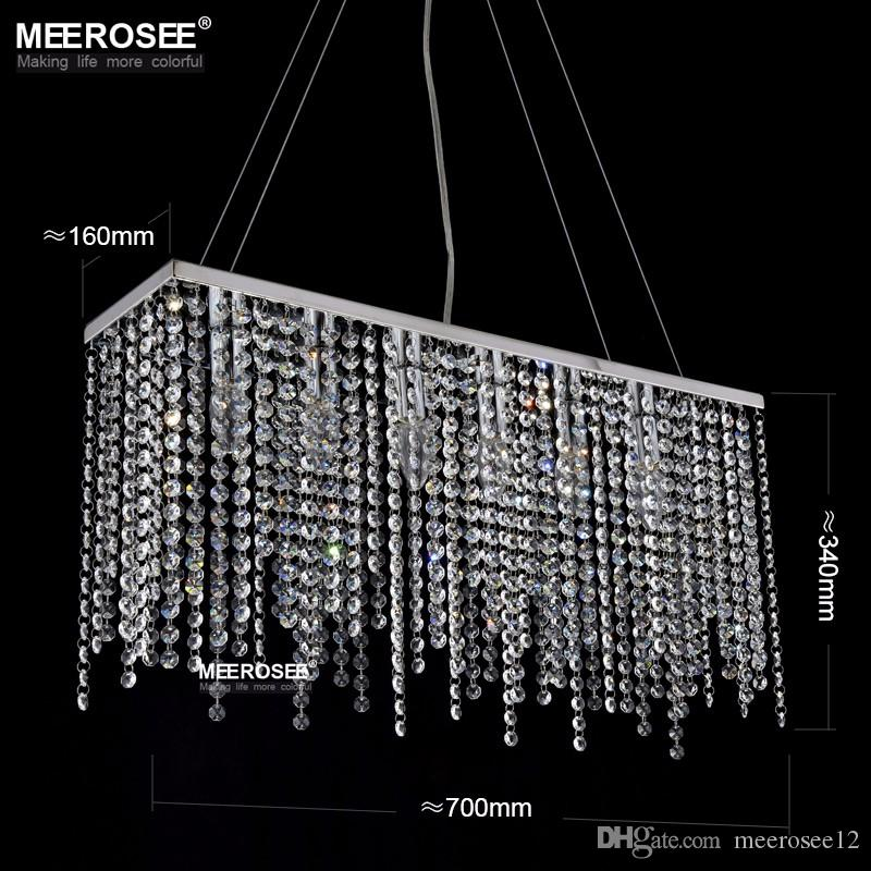Compre crystal pendant light fixture rectngulo crystal light para compre crystal pendant light fixture rectngulo crystal light para el restaurante modern hanging suspension lustres drop lamp home a 3162 del meerosee12 aloadofball Image collections