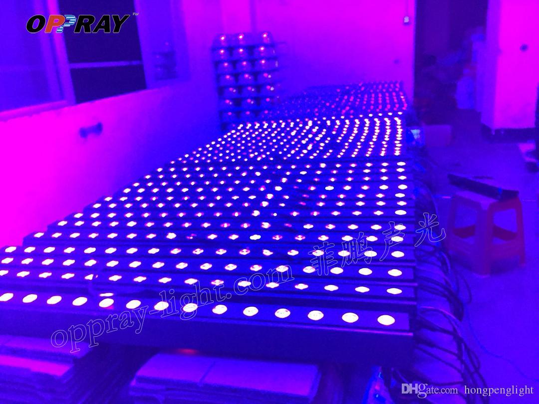 4 OPPRAY paketi LED duvar yıkama 18 adet * 3 w UV bar işık 1 veya 2 kanal DMX512 lamba sel ışık boyama