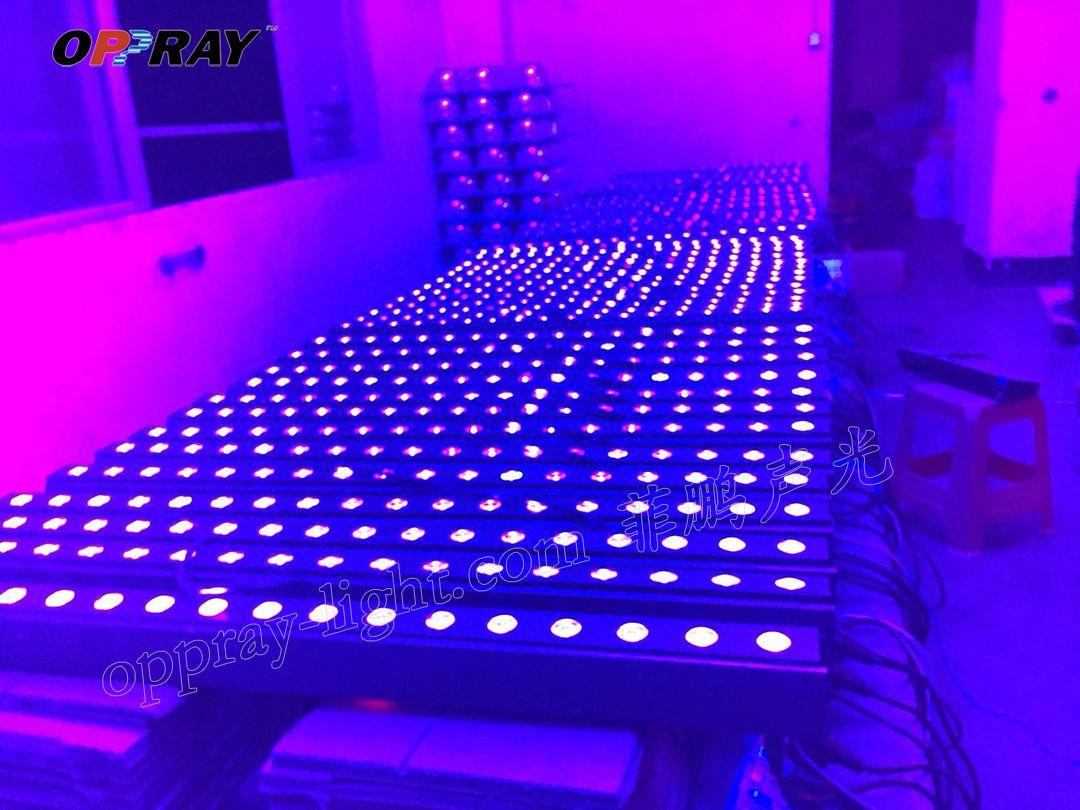 Pack of 4 OPPRAY LED wall washer *3w UV bar light 1 or 2 channels DMX512 lamp flood light staining