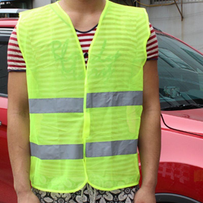 3b744829f2 Compre 2018 Colete Refletivo De Alta Visibilidade De Segurança Ao Ar Livre  Fluorescente Colete De Segurança Reflexivo Vest Vestir Ventile De  Mumianflo