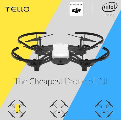 DJI Tello Mini Drone 720P HD Transmission Camera APP Remote Control Folding  Toy FPV RC Quadcopter Drones with EZ Shots