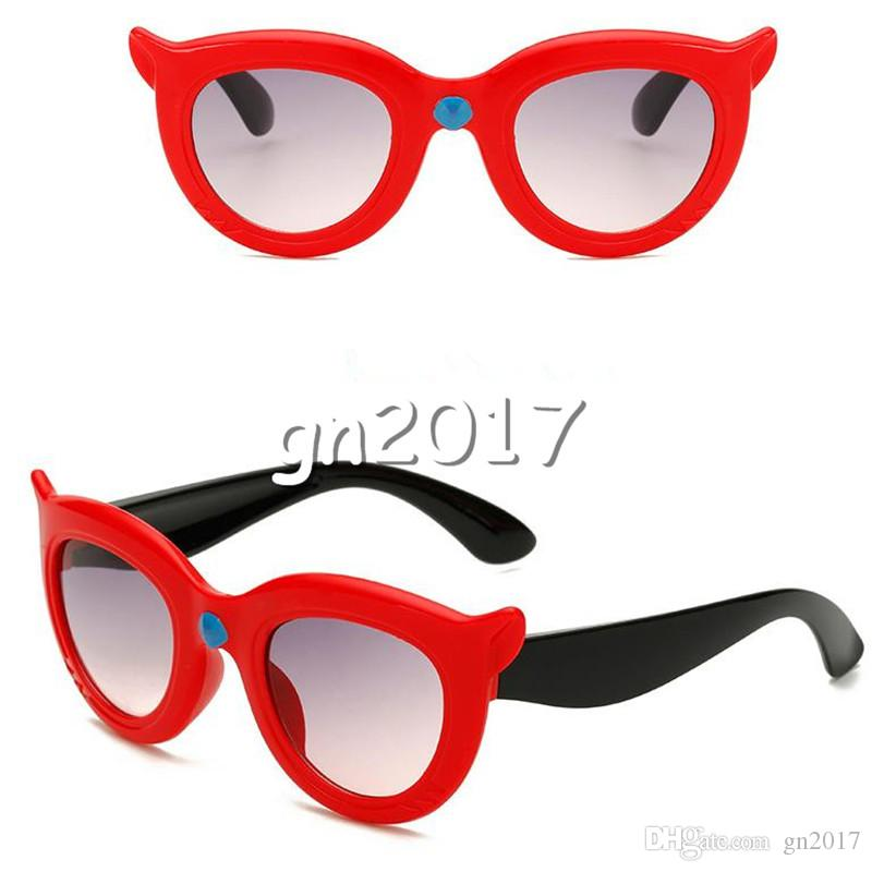 CUT Children Cartoon Creativity Sunglasses Thick Frame Sunglasses Fox Shape Eyeglasses Anti-UV Spectacles Kids Sun Glasses
