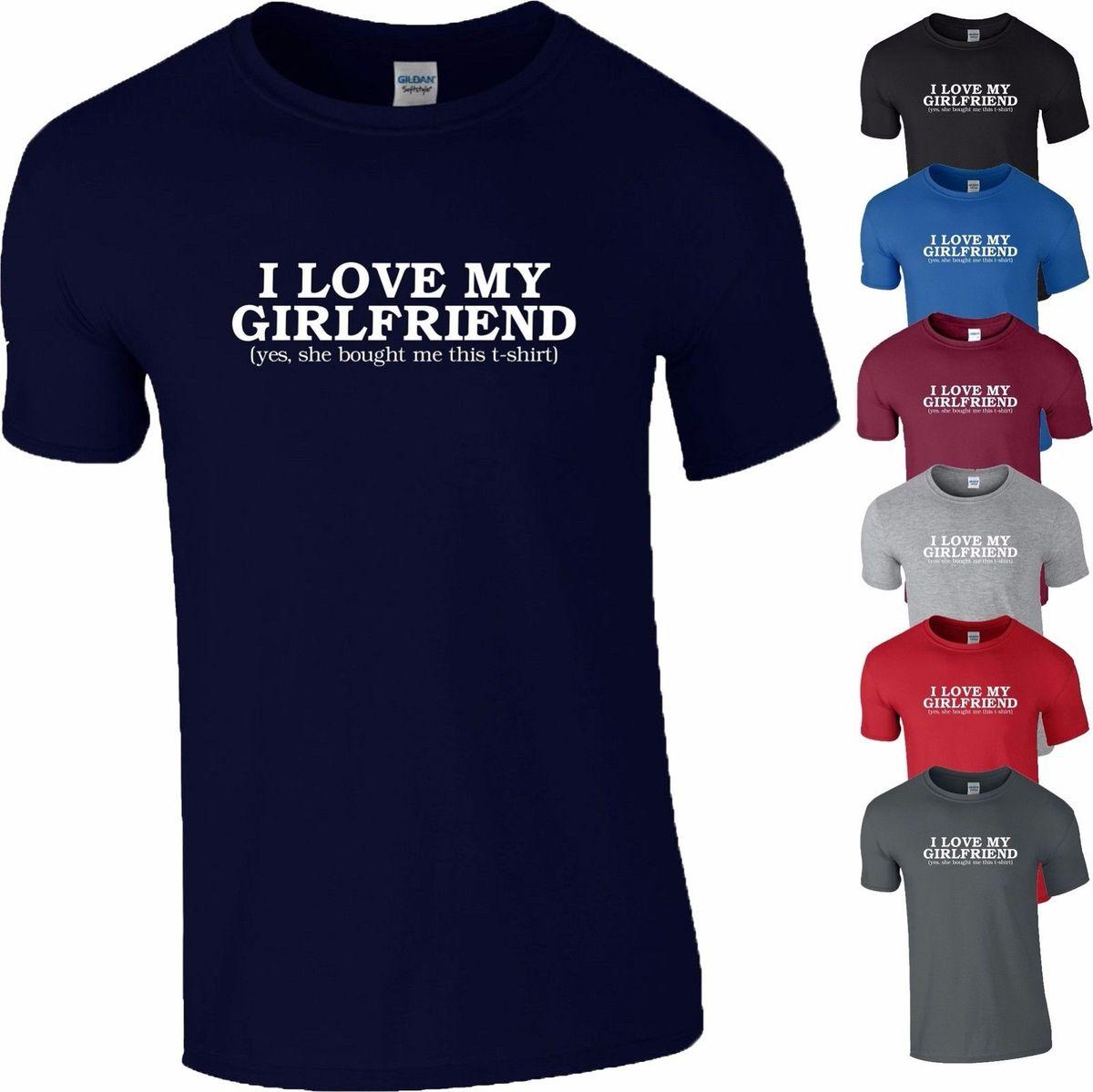 Cool Shirt Designs I Love My Girlfriend Valentine Day Boyfriend