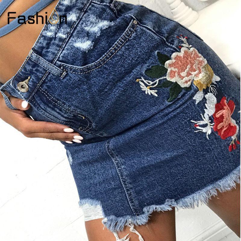 4574a909e22 Pencil Skirt Blue Denim Skirt Women Sexy Casual Mini Summer Jeans ...