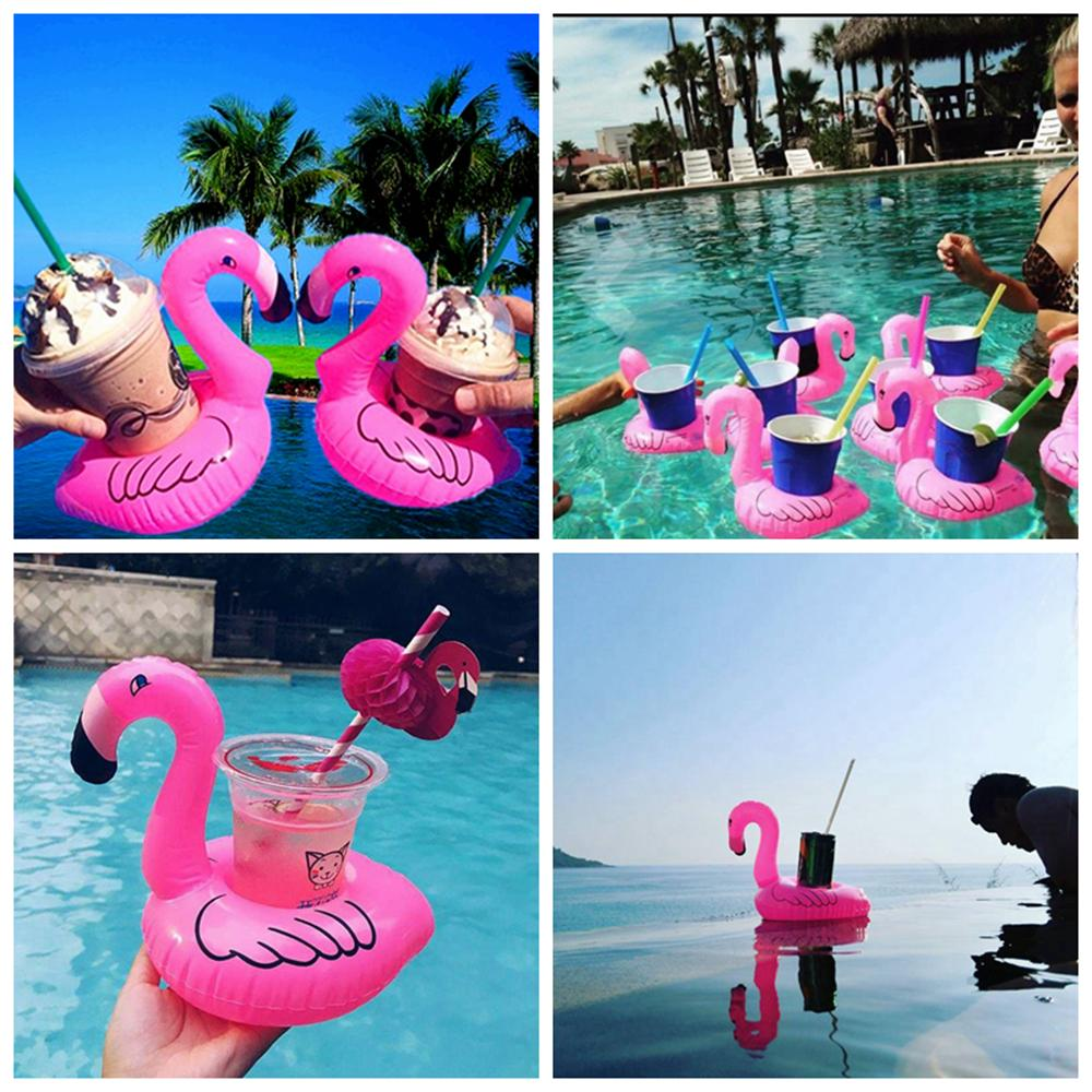 2019 Inflatable Flamingo Cup Holder Swim Drink Floats Cup Holder Summer  Pool Bath Beach Beverage Boat Water Fun AAA341 From Kids_dress, $0.44 |  DHgate.Com