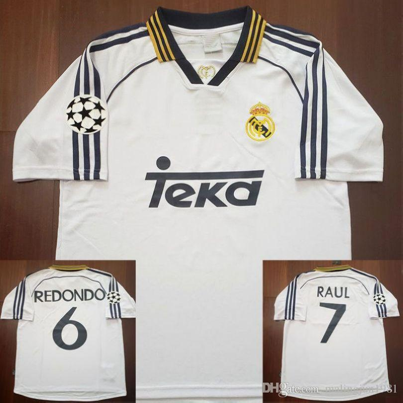 d76d4037616 2019 98 99 00 Real Madrid Retro Soccer Jersey RAUL 1998 1999 2000 Real  Madird Football Shirts Redondo Carlos Seedorf Vintage Classic Camiseta From  ...