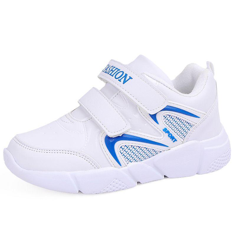 60e35f3874b8c Acheter Sport Enfants Chaussures Pour Les Garçons Baskets Enfants Casual Chaussures  Filles Running Running Trainer HookLoop En Cuir Respirant En Caoutchouc ...