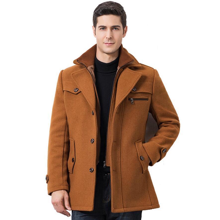 code promo 547e1 8e15f 2018 Mode Hommes 5XL Nouveau Style Manteau En Laine Manteau Homme Dust  Manteau D hiver Épaissir Manteau De Laine Hommes Grande Veste Grand Manteau  D ...