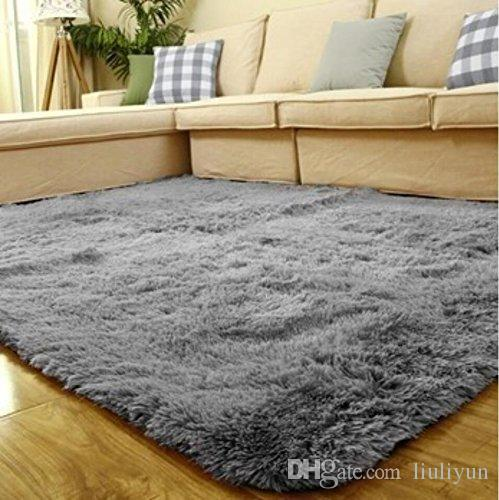 Ultra Soft Shaggy Area Rugs Fluffy Living Room Carpet Kids Anti Skid
