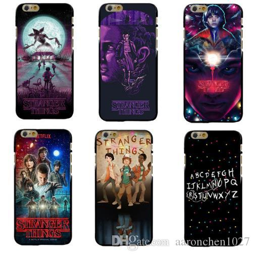 pretty nice 7ad16 14385 TV Stranger Things Pattern Case For iPhone 6 6S 7 8 Plus X 5 5S SE Black  Soft Silicone Phone Cases Cover For Fundas iphone 7Plus