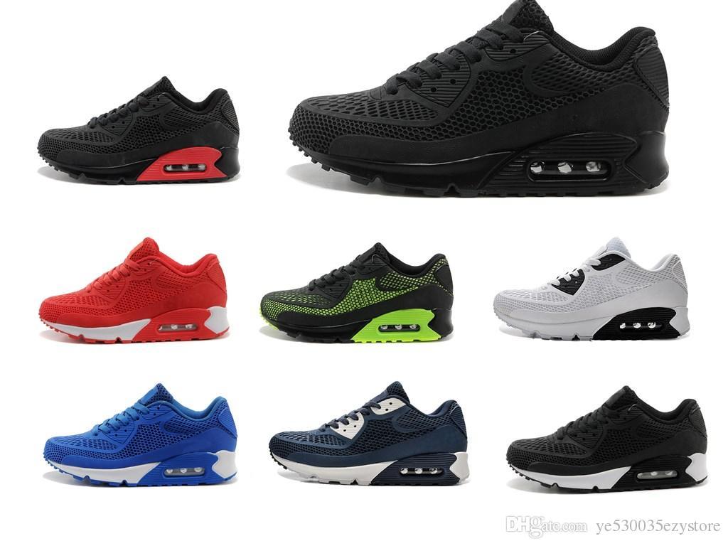 best website 582ba 261a8 Acheter Nike Air Max Airmax 90 Kpu 2017 Haute Qualité Chaussures De Course  Coussin 90 KPU Hommes Femmes Classique 90 Casual Chaussures Baskets  Sneakers ...