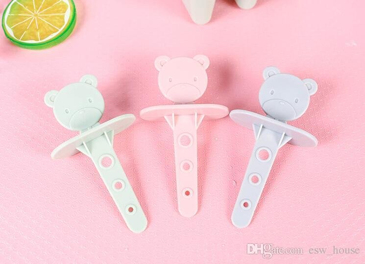 6 Grids frozen Ice cube Popsicle molds Cartoon baby bear design Popsicle maker DIY ice cream tools