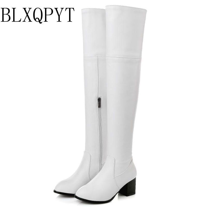 27340ad3878b7 Compre BLXQPYT Plus Pequeño Tamaño Grande 30 48 Botas Largas Tacones Altos  Otoño Invierno Cálido Zapatos Mujer Sexy Casual Con Cremallera Botas De  Mujer 116 ...