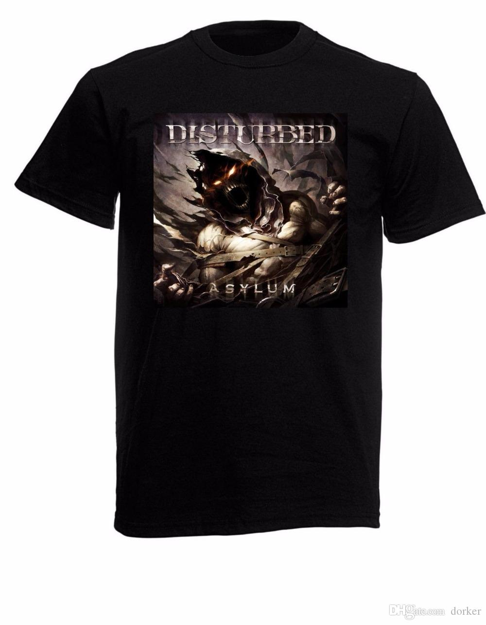 9f099b812 Cotton Shirts Disturbed Asylum Mens Black Rock T-shirt NEW Sizes S ...