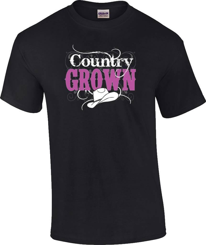 5bb646424 Country Grown Cowboy Hat Cowgirl T Shirt It T Shirt Design Clever Tee Shirts  From Beidhgate07, $11.01  DHgate.Com