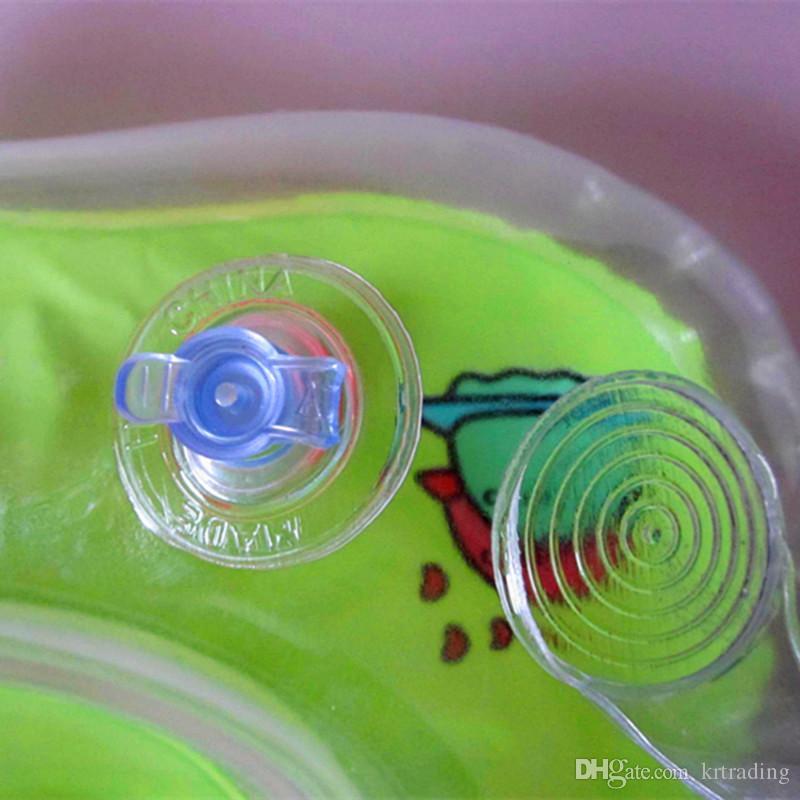 Cuello del bebé Anillo para nadar Accesorios inflables de natación de colores Infantes Cuello flotador para el baño de juguete