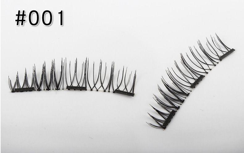 2018 Pure Handmade Magnet Fake Eyelashes Magnetic Eyelash Extension Full Strip Lash Design Natural Curl Long False Eyelashes Kit Makeup