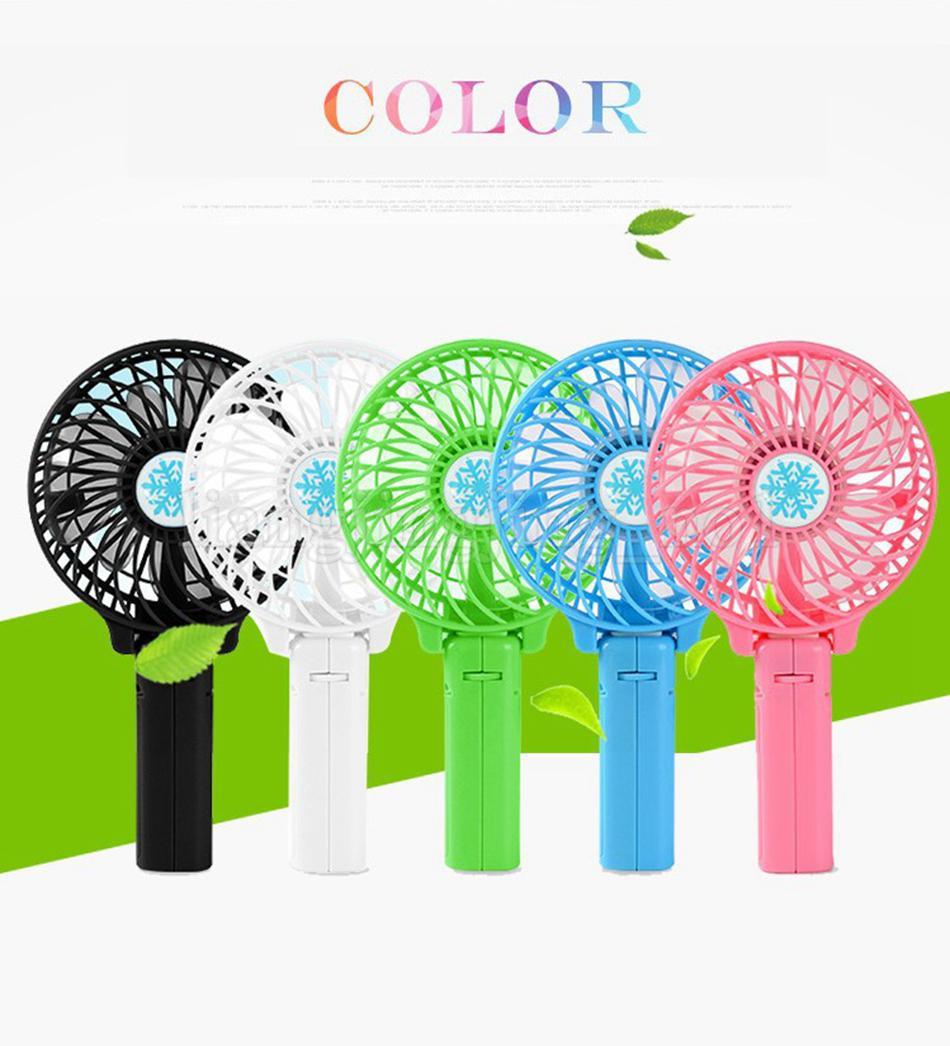 Şarj edilebilir Fan Hava Soğutucu Mini Kumandalı El 1200 mah Danışma Cep USB Taşınabilir Ofis Fan Parti Favor OOA5194