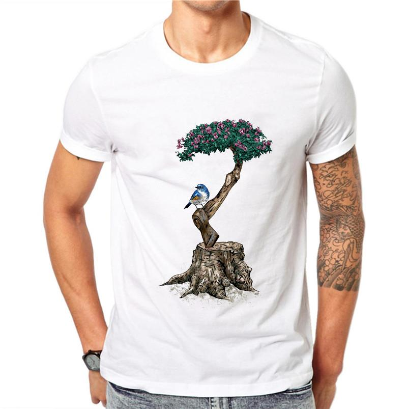 01a1130c Life After Life Art Print T Shirt Summer Fashion Men Short Sleeve Casual  Tops Cute Bird On The Tree Design T Shirts Tee As Tee Shirts Awesome T  Shirts For ...