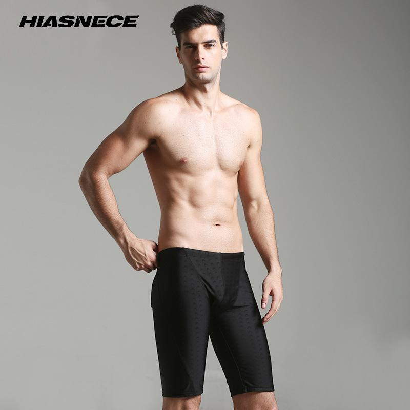 7b7ede1500c 2019 Mens Swimwear Swimming Shorts Long Solid Black Swim Trunks Quick  Drying Breathable Plus Size 4XL Surfing Bathing Suits 2018 From Hongxigua
