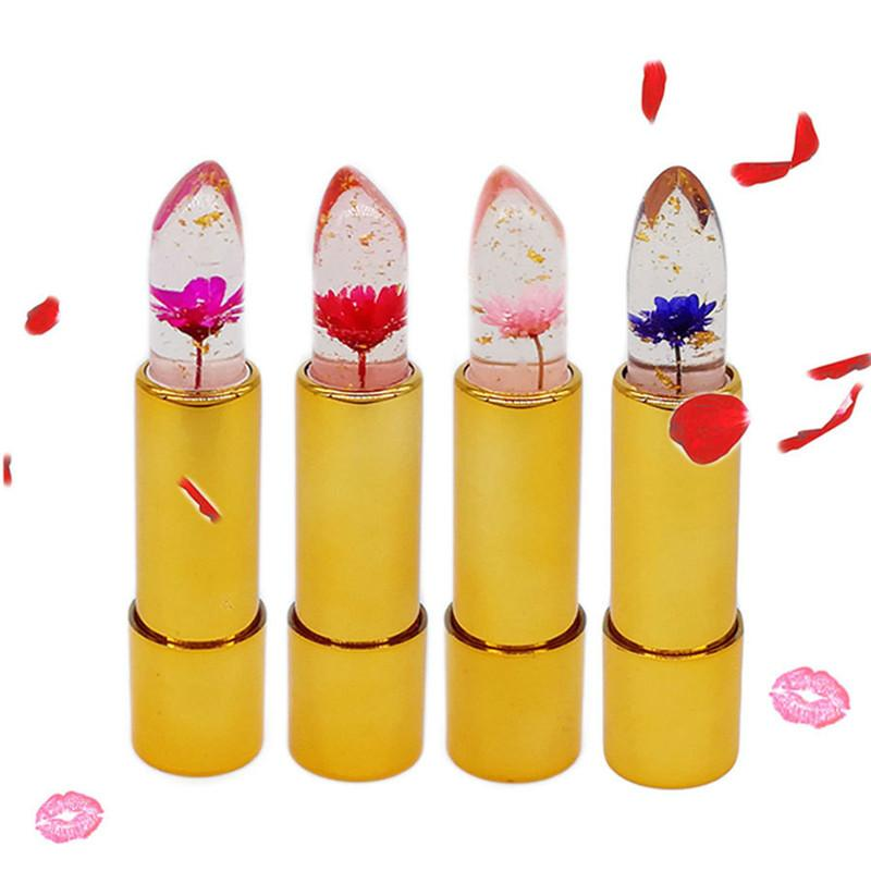 Hot Milemei Lipstick Magic Color Temperature Change 100% Original Beautiful Jelly Flower Lipstick Matte batom Hot Sale