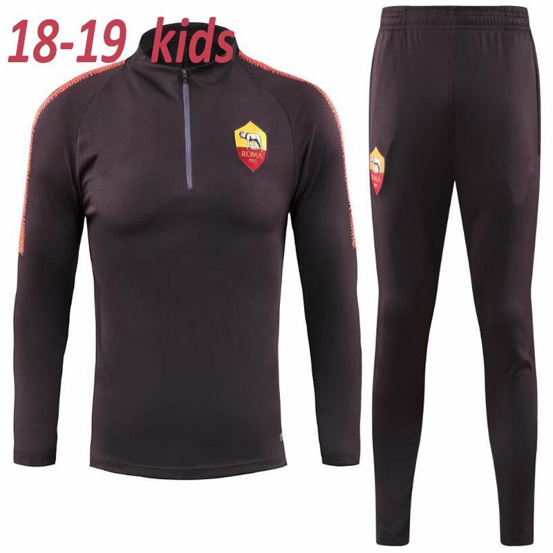 Compre 2018 2019 ROME Traje De Entrenamiento De Fútbol Para Niños TOTTI ROMA  DZEKO Sports DE ROSSI Jersey 18 19 EL SHAARAWY NAINGGOLAN Chándal De Fútbol  A ... 6a4edb31ad33c