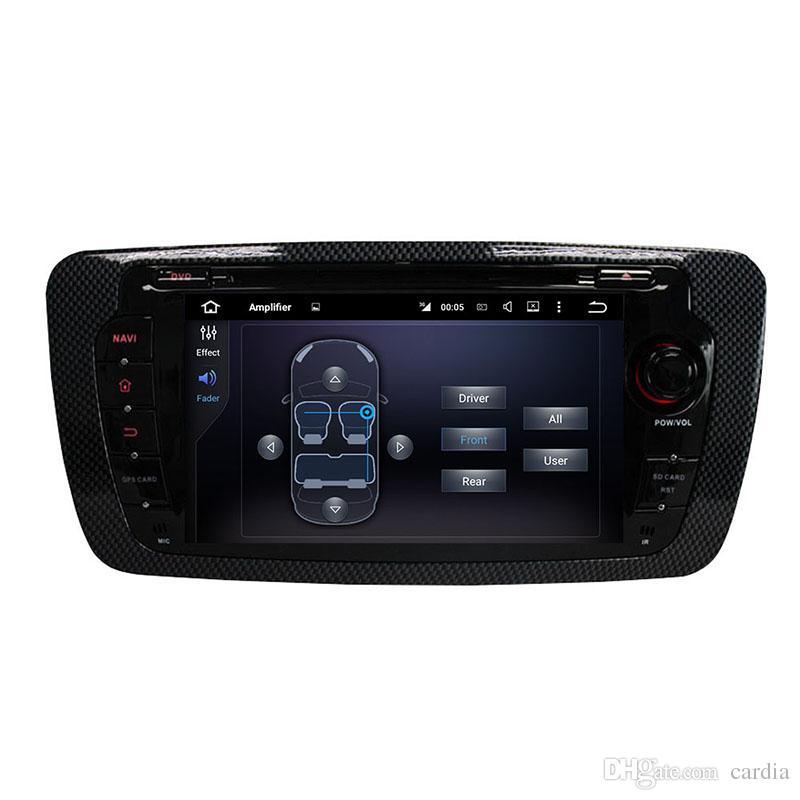 DVD del coche para el asiento IBIZA 7 pulgadas 2 GB RAM Andriod 6.0 con GPS, control del volante, Bluetooth, radio