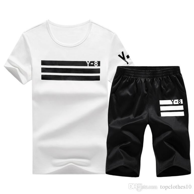 405280d5e832 Retail Plus Size 4XL Summer Men Top Tee Shirts Casual Tshirt+Shorts ...