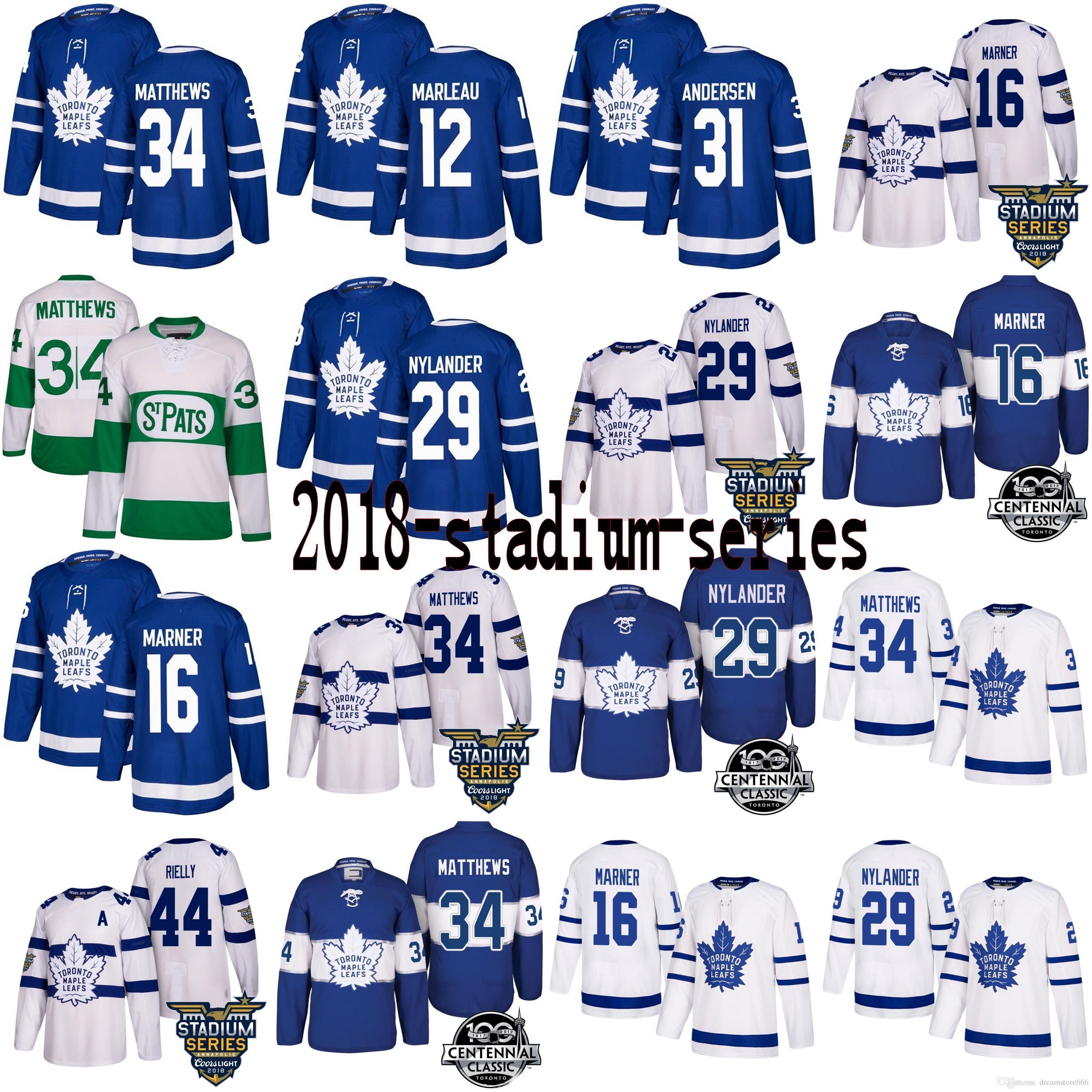 2018 AD Men s Toronto Maple Leafs Stadium Series 34 Auston Matthews ... 385747340