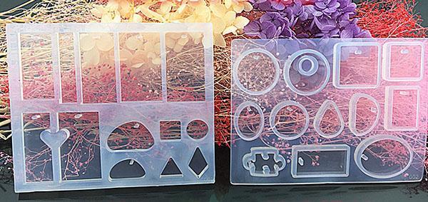 12 Silikon Harz Formen Anhänger Schmuckform Handwerk Handgemachte DIY Runde Cabochons Harz Ohrringe Anhänger Halskette Schmuck Formen