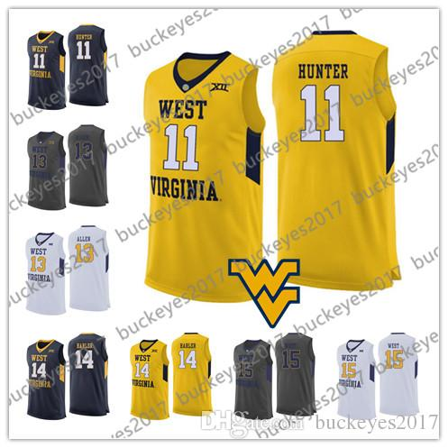9a8d4f4d1 2019 West Virginia Mountaineers  11 D Angelo Hunter 13 Teddy Allen 15  Lamont West Grey Navy Yellow Black NCAA College Basketball Jerseys From  Buckeyes2017