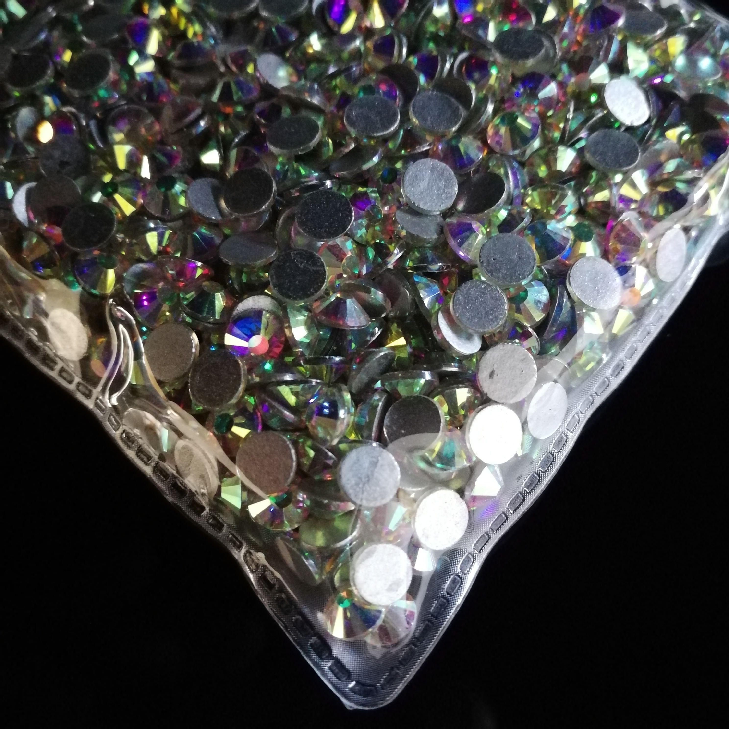Clear AB Ss12 Non Hot-fix Rhinestones Glass Stones Crystal Flat Back ... db43fd31f33e