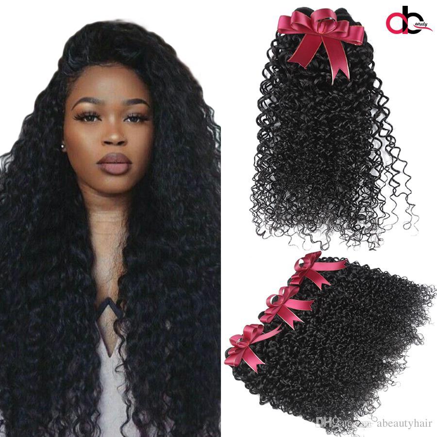 34 Peruvian Curly Virgin Huamn Hair Weave Cheap Mink Brazilian