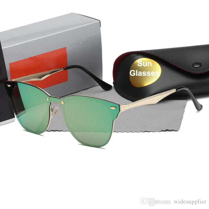 Compre 2018 Moda Óculos De Sol De Grife Óculos De Sol Das Mulheres Dos  Homens Clássico De Metal Oval Óculos De Sol NICE FACE Moda Óculos 11 Cores  De ... 406d2aae29