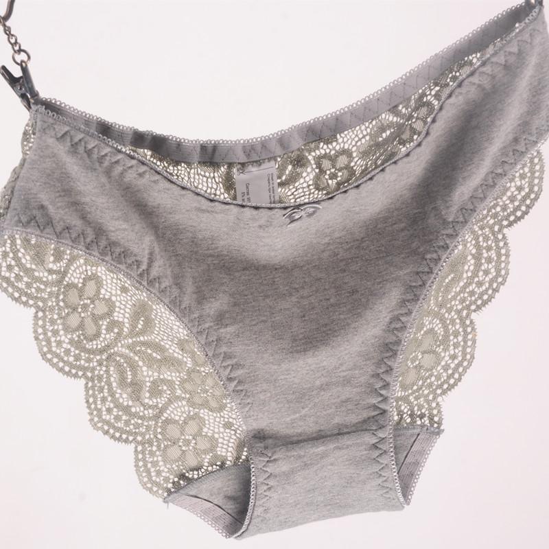 51cb094bfac New Women s Briefs Viscose Lace Panties Plus Size Transparent ...