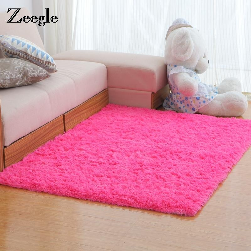 Home Textile Modern Plush Round Shape Carpet Throw Rug Anti-skid Shaggy Area Rug Soft Floor Mat Blankets House Living Room Bedroom Carpet Rug Home & Garden