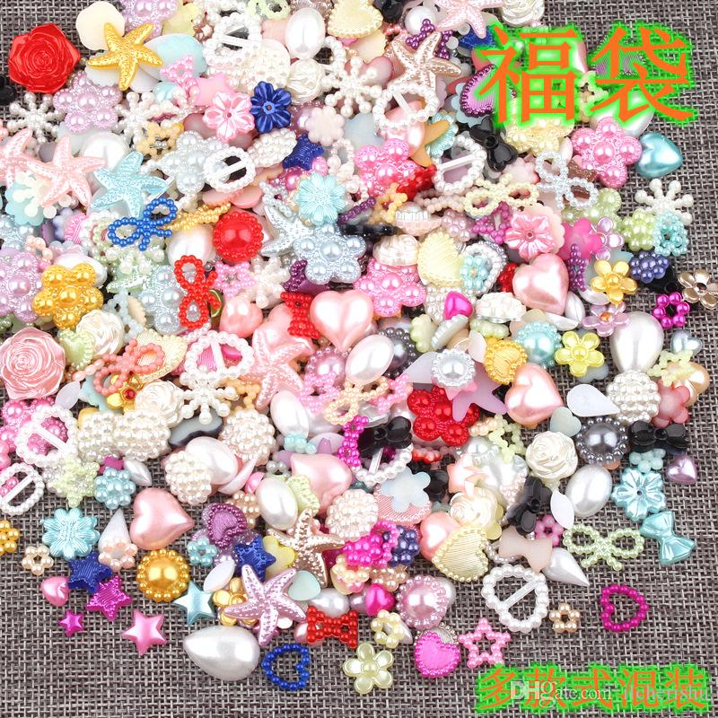 Plastic ABS special-shaped imitation pearl beads DIY crystal gel mobile phone material Fake pearl charms Scrapbook Craft jewelry