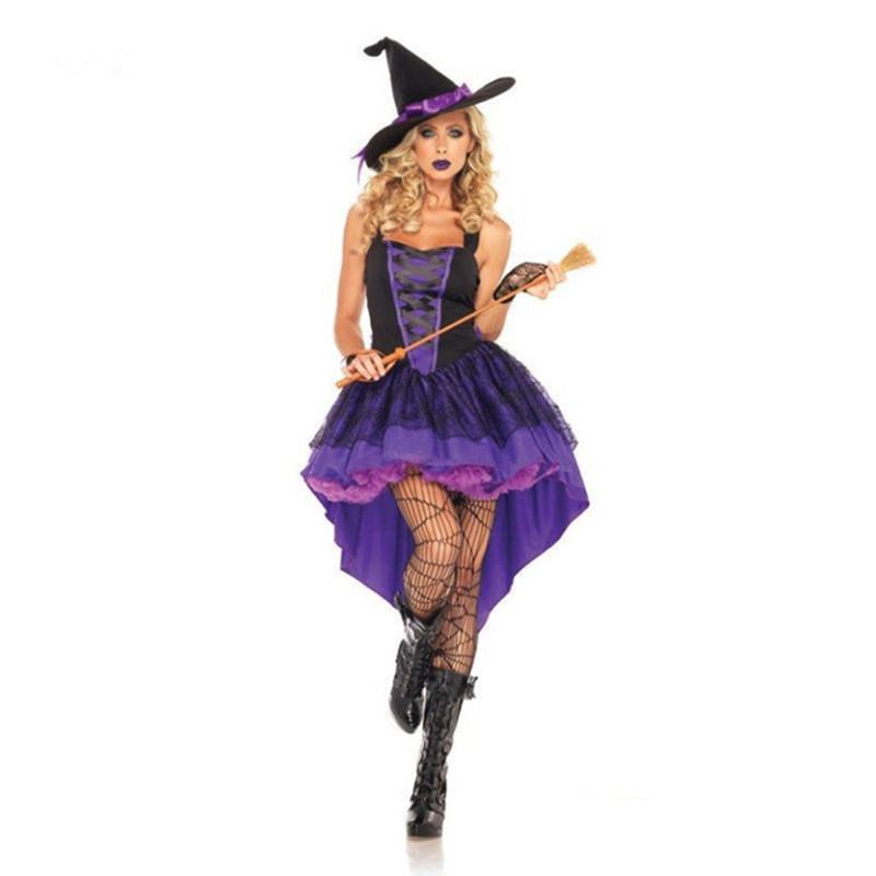 Vestiti Halloween Strega.Costume Da Strega Per Adulti Costume Da Strega Di Halloween Costumi Sexy Per Le Donne Costume Di Natale Di Halloween Abito Lungo A Coda Di Rondine
