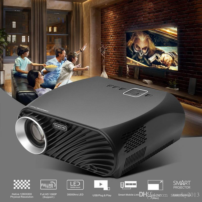 Android Projector Full HD 1080P 3200 Lumen WIFI Bluetooth LED LCD Home Theater Cinema Video VIVIBRIGHT GP100 Projector Proyector has Speaker
