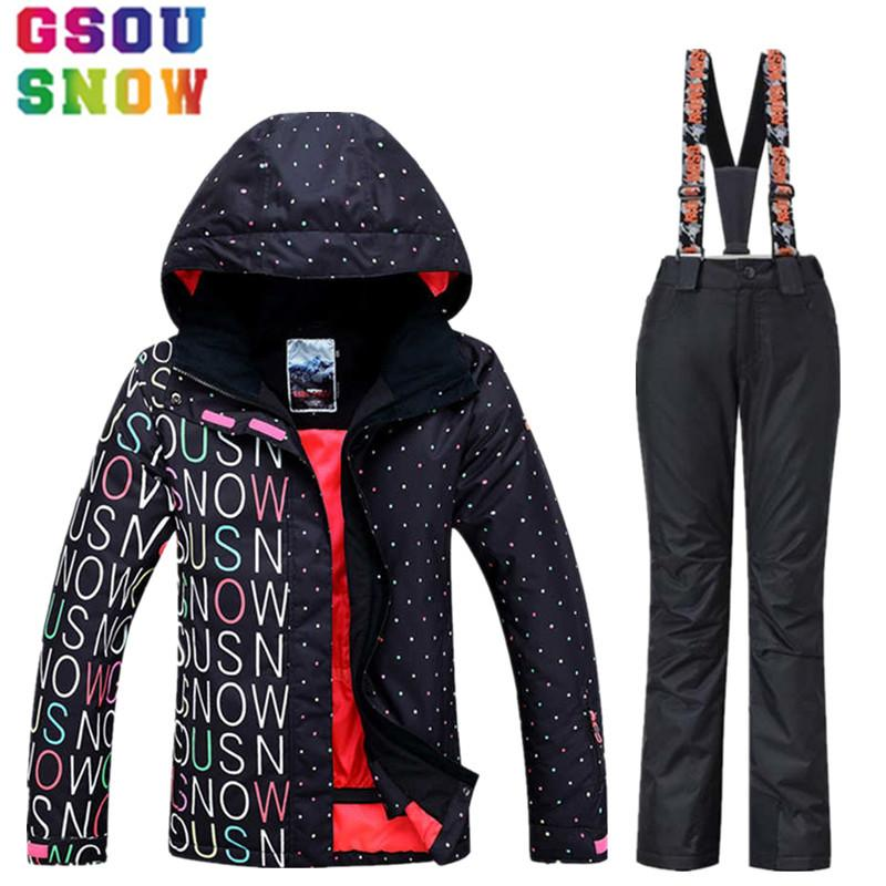 2018 High Quality Waterproof Ski Suit Women Ski Jacket Pants Winter  Snowboard Jacket Pants Mountain Snow Clothes Send Russia From Cbaoyu a9a9b9769