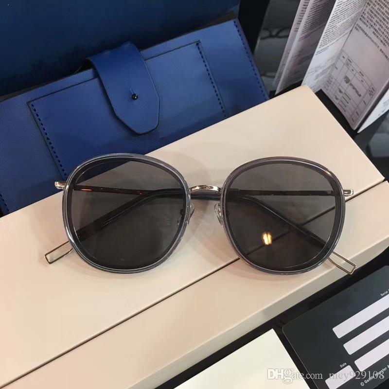 Yeni moda erkek GM dava ile toptan gözlük UV400 basit mens güneş gözlüğü popüler kadın güneş gözlüğü açık hava yaz koruması güneş gözlüğü